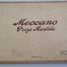 Juguetes antiguos: CATALOGO MECCANO DE MODELOS PREMIADOS EN EL CONCURSO DE 1914 1915. Lote 72216891