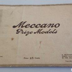 Juguetes antiguos: CATALOGO MECCANO CON MODELOS CONCURSO 1914 1915 EDICION EEUU. Lote 72216999