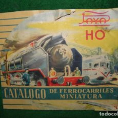 Juguetes antiguos: CATALOGO DE FERROCARRILES DE MINIATURA HO DE PAYA. Lote 73172959