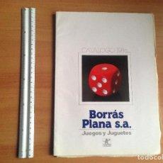 Juguetes antiguos: ANTIGUO CATALOGO JUGUETERIA JUGUETES BORRAS PLANA AÑO 1986. Lote 73740687