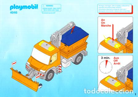 FOLLETO ORIGINAL , DESPIECE, MANUAL MONTAJE ORIGINAL DE PLAYMOBIL Nº 4046 (Juguetes - Catálogos y Revistas de Juguetes)