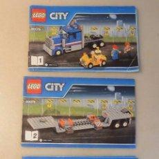 Juguetes antiguos: LOTE 3 CATALOGOS LEGO CITY : 1-2 Y 3. Lote 76791711