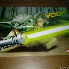 Juguetes antiguos: PÓSTER STAR WARS LEGO YODA 40 POR 30 CM APROXIMADAMENTE. Lote 78299031
