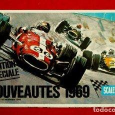 Juguetes antiguos: CATALOGO SCALEXTRIC (1969) NOUVEAUTES 1969 (EN FRANCES - FRANÇAIS) EDITION SPECIALE (NUEVOS MODELOS). Lote 79889293
