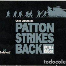 Juguetes antiguos: MANUAL EN INGLÉS PATTON STRIKES BACK, BRODERBOUND. Lote 80010785