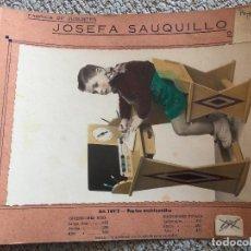 Juguetes antiguos: SAUQUILLO POSTAL JUGUETE DE MADERA DENIA AÑOS 40-50 PUPITRE ENCICLOPEDICO. Lote 85285224
