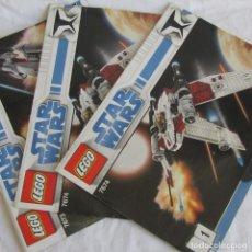 Juguetes antiguos: 3 CATÁLOGOS DE LEGO STAR WARS: 7674-1 + 7674-2 + 7673. Lote 80442389