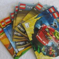 Juguetes antiguos: 10 CATÁLOGOS DE LEGO: AGENTS + ATLANTIS + WORL RACERS + NINJAGO + CITY. Lote 80443237