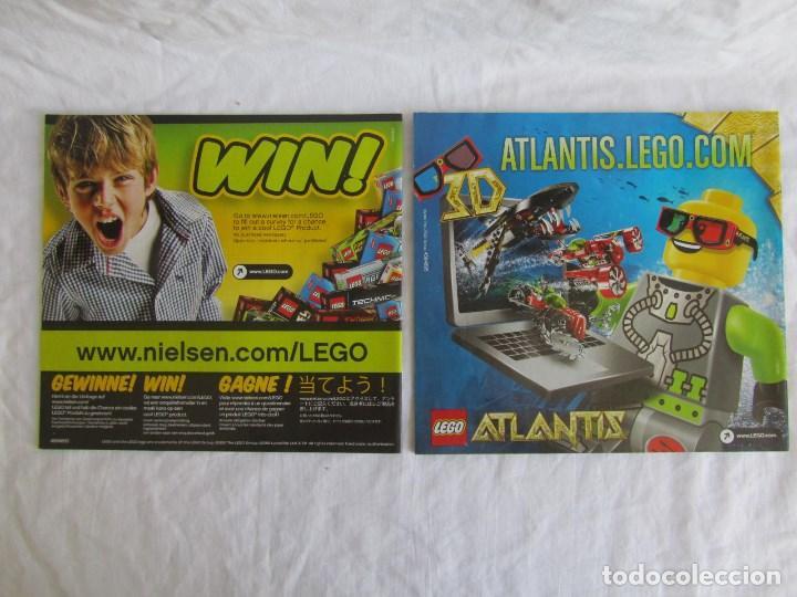 Juguetes antiguos: 10 catálogos de Lego: Agents + Atlantis + Worl Racers + Ninjago + City - Foto 3 - 80443237