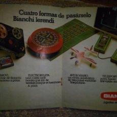 Juguetes antiguos: PUBLICIDAD DOBLE A DOS CARAS ORIGINAL AÑOS 70 - MUÑECAS JESMAR BOLA LOCA BIANCHI BOLALOCA GRAINES. Lote 82823332