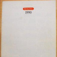 Juguetes antiguos: CATÁLOGO MODELISMO VEHÍCULOS WIKING H0 N AÑO 1990 16 PÁGINAS 1:87 1:160. Lote 62351544