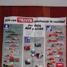 Juguetes antiguos: CATALOGO DESPLEGABLE, TENTE EXIN, 1978.POR RUTA, MAR Y ASTRO -REF-MU4ES5. Lote 83764496