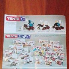 Juguetes antiguos: CATALOGO DESPLEGABLE, TENTE EXIN, 1977 -REF-MU4ES5. Lote 83764532
