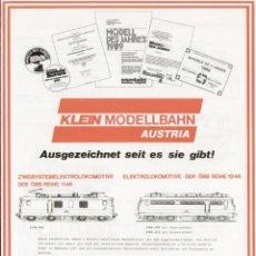 Juguetes antiguos: CATÁLOGO KLEIN MODELLBAHN AUSTRIA 1989 INFO - EN ALEMÁN. Lote 83894276