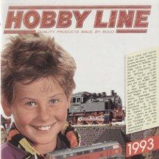 Juguetes antiguos: CATÁLOGO ROCO NEWS 1993 HOBBY LINE MODELLEISENBAHN-VON ANFANG AN! - EN ALEMÁN. Lote 83985576