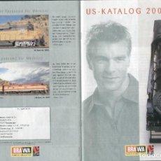 Juguetes antiguos: CATÁLOGO BRAWA USA 2003 LIFE-LIKE TRAINS HO 1/87 N 1/160 - EN ALEMÁN. Lote 84002932