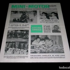 Juguetes antiguos: BOLETÍN Nº 11 MINI-MOTOR DE MINI-CARS 1/86 1/87, EDITADO POR ANGUPLAS. ORIGINAL AÑOS 50-60.. Lote 84279988