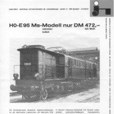 Juguetes antiguos: CATÁLOGO HÜBNER JÜRGEN 1976 HO 1:87 E 95 MS-MODELL HENSCHEL DHG 300 B MESSING MODELLE - EN ALEMÁN. Lote 84300820