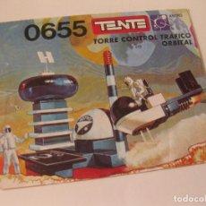 Juguetes antiguos: INSTRUCCIONES DE LA TORRE DE CONTROL TRAFICO ORBITAL DE TENTE. REFERENCIA 0655. Lote 86205836