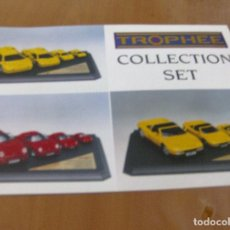 Juguetes antiguos: CATALOGO COCHES MINIATURA TROPHEE - COLLECTION SET - VARIAS ESCALAS - ESCRITO: ESPAÑOL , INGLES , ... Lote 86304992