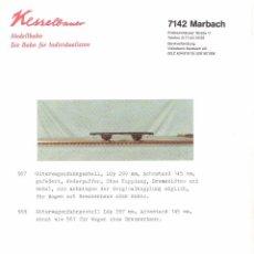 Juguetes antiguos: CATÁLOGO KESSELBAUER 1999 SPUR 1 GÜTERWAGENDREHGESTELL - EN ALEMÁN. Lote 91344660