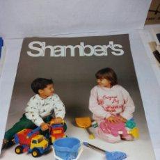 Juguetes antiguos: CATALOGO JUGUETES SHAMBERS 1989. Lote 91631007
