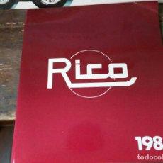 Juguetes antiguos: RICO S.A. CATALOGO 1983A ESTRENAR. Lote 211572047