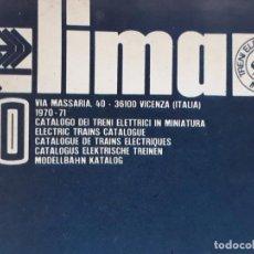 Juguetes antiguos: CATALOGO DE TRENES ELÉCTRICOS LIMA - AÑOS 1970 - 71 - COMPLETO Y EN EXCELENTE ESTADO. Lote 95569687