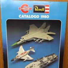 Brinquedos antigos: CATALOGO CONGOST - REVELL - AÑO 1980 (AVIONES, BARCOS, COCHES Y MOTOS). Lote 95590203