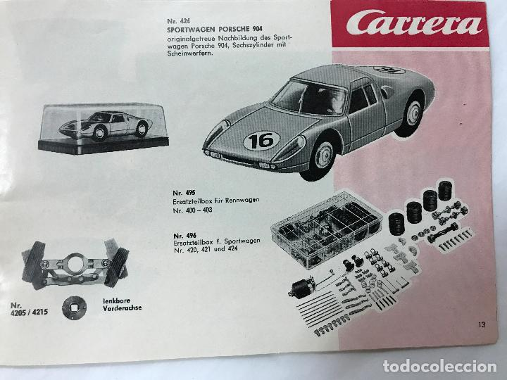 Juguetes antiguos: CARRERA CATALOGO DE 1965, 26 PAGINAS TEXTO EN ALEMAN, TIPO SCALEXTRIC - Foto 14 - 97204331