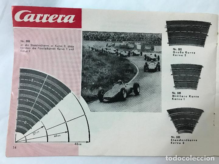 Juguetes antiguos: CARRERA CATALOGO DE 1965, 26 PAGINAS TEXTO EN ALEMAN, TIPO SCALEXTRIC - Foto 15 - 97204331