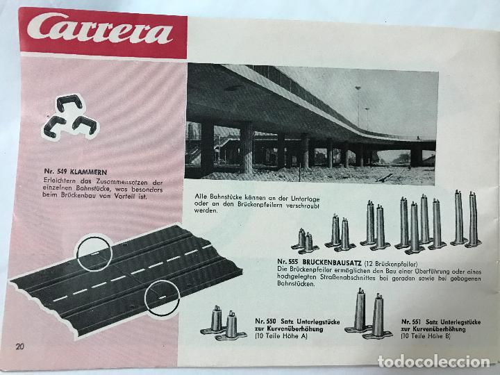 Juguetes antiguos: CARRERA CATALOGO DE 1965, 26 PAGINAS TEXTO EN ALEMAN, TIPO SCALEXTRIC - Foto 22 - 97204331