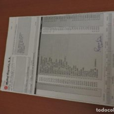 Juguetes antiguos: FACTURA MATTEL ESPAÑA 1988 MASTERS DEL UNIVERSO BARBIE KEN LAURA TIGRE DE COMBATE. Lote 97350567