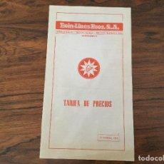 Juguetes antiguos: PRECIOS. EXIN - LINES BROS. 1972.TENTE,CINE EXIN CASTILLOS, HISTOREX, SCALEXTRIC 600, 850CAJA. Lote 97993239