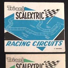 Juguetes antiguos: LOTE CATALOGO TRI-ANG SCALEXTRIC RACING CIRCUITS 5ª Y 6ª EDICION. Lote 98143051