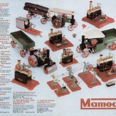 Juguetes antiguos: CATÁLOGO MAMOD STEAM ENGINES 1978 VAPEUR VIF + PRICE LISTE GBP - EN INGLÉS. Lote 98290627