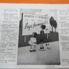 Juguetes antiguos: PUBLICIDAD 1951 - COLECCION JUGUETES - PAYA HERMANOS IBI ALICANTE . Lote 98763587
