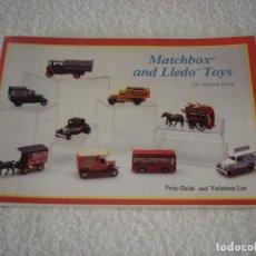 Juguetes antiguos: CATALOGO: MATCHBOX AND LLEDO TOYS - DR EDWARD FORCE 1988 (EN IDIOMA INGLES). Lote 100510143