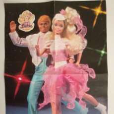 Juguetes antiguos: POSTER BARBIE HOLIDAY ON ICE DEL CLUB DE BARBIE 1989. Lote 101756831
