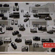 Juguetes antiguos: CATALOGO ORIGINAL, TRANSPORTES, COCHES Y CAMIONES DE PLASTICO, ESCALA H0, WIKING, ALEMANIA 1962. Lote 101988655