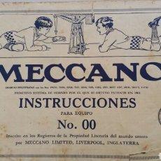 Juguetes antiguos: CATALOGO MECCANO EQUIPO 00. Lote 103035302