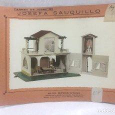 Juguetes antiguos: SAUQUILLO FICHA CATALOGO JUGUETE DE MADERA DENIA AÑOS 40-50 MI PALACIO DE CAMPO. Lote 104253691