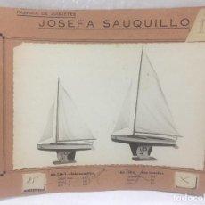 Juguetes antiguos: SAUQUILLO FICHA CATALOGO JUGUETE DE MADERA DENIA AÑOS 40-50 SNIP MONOTIPO. Lote 104253999