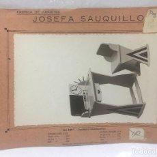 Juguetes antiguos: SAUQUILLO FICHA CATALOGO JUGUETE DE MADERA DENIA AÑOS 40-50 ESCRITORIO. Lote 104254207