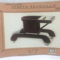 Juguetes antiguos: SAUQUILLO FICHA CATALOGO JUGUETE DE MADERA DENIA AÑOS 40-50 SILLA CARLITOS. Lote 104254367