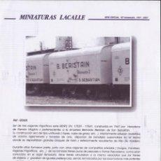 Juguetes antiguos: CATÁLOGO MINIATURAS LACALLE 2007 VAGONES FRIGORIFICOS HO EN METAL - EN ESPAÑOL. Lote 105318235