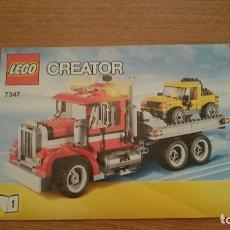Juguetes antiguos: CATALAGO - LEGO . CREATOR 7347- N 2. Lote 105705243
