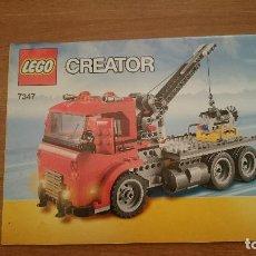 Juguetes antiguos: CATALAGO - LEGO . CREATOR 7347. Lote 105705295