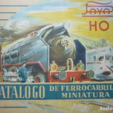 Juguetes antiguos: CATALOGO DE FERROCARRILES EN MINIATURA. PAYA HO. EXCEPCIONAL. MUY INTERESANTE. Lote 105715463