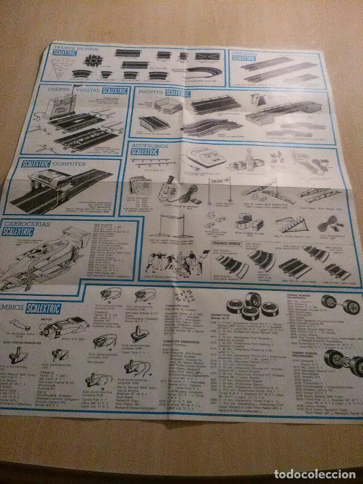 Juguetes antiguos: Scalextric Catalogo de tramos de pista,accesorios,recambios y trazados de circuito - Foto 2 - 106786283